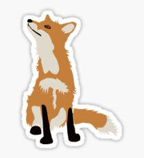 Foxes Glossy Sticker