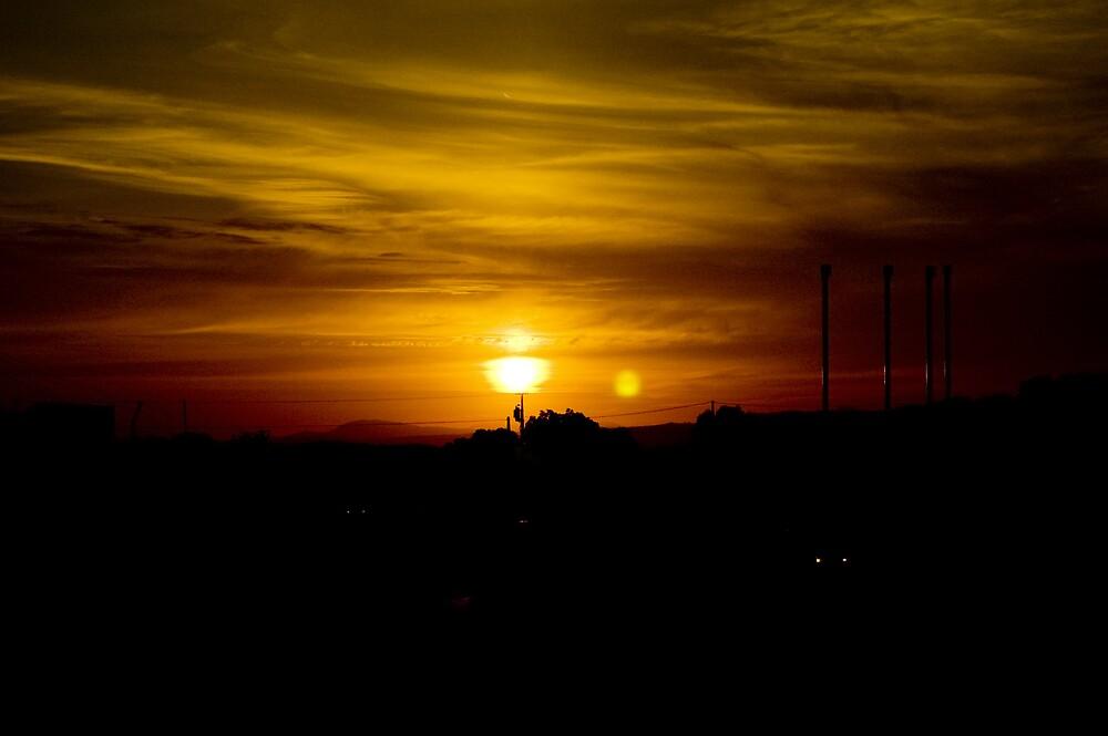 Flames sun by Angel Jesús Pérez Alfonso