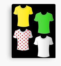 Tour de France shirts Canvas Print