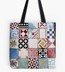 Spanish Tiles Colored Tote Bag