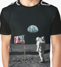 Apollo 11 Moon & Earth (No Stars) Graphic T-Shirt