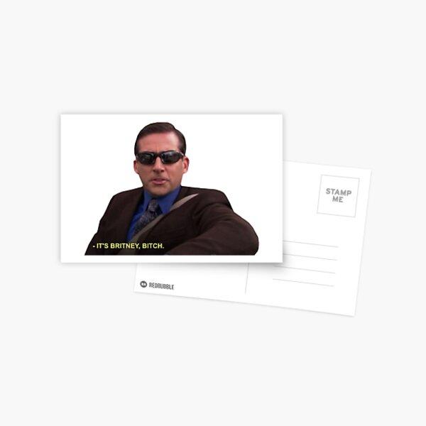 Michael Scott - Es ist Britney Bitch Postkarte