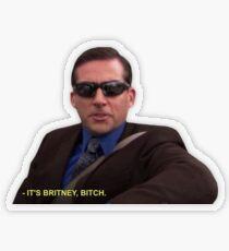 Pegatina transparente Michael Scott - Es Britney Bitch