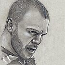 Shawn Thornton - Boston Bruins Hockey Portrait by HeatherRose