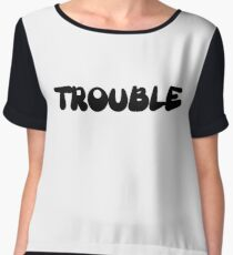 Trouble Women's Chiffon Top
