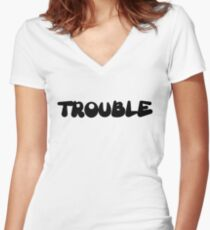 Trouble Women's Fitted V-Neck T-Shirt