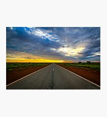 Road to horizon Photographic Print