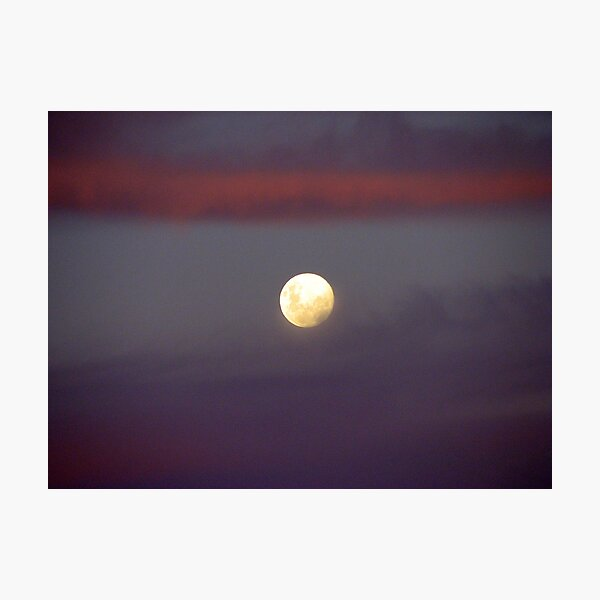 Dusky Moon Photographic Print