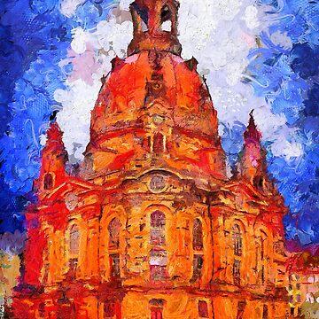 Church of Our Lady in Dresden Van Gogh Monet Cézanne by Ariela-Alez