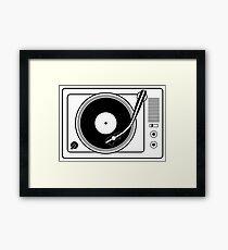 Record player Framed Print