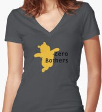Zero Bothers | Winnie the Pooh Women's Fitted V-Neck T-Shirt