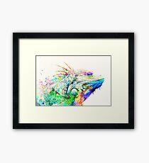Watercolor reptile Framed Print