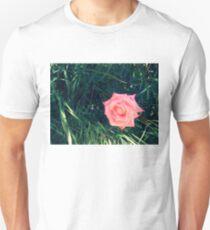 contrasty pink rose, weeds 04/27/17 Unisex T-Shirt