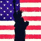 Patriotic American Flag by morningdance