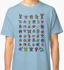 MegaMan 1to6 Robot Masters Classic T-Shirt