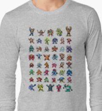 MegaMan 1to6 Robot Masters Long Sleeve T-Shirt