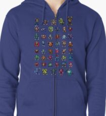 MegaMan 1to6 Robot Masters Zipped Hoodie