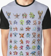 MegaMan 1to6 Robot Masters Graphic T-Shirt