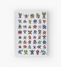 MegaMan 1to6 Robot Masters Hardcover Journal