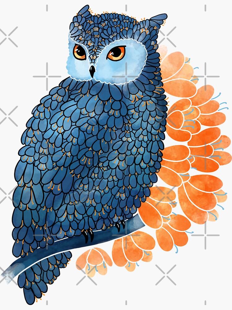 Blossoming owl by Elenanaylor