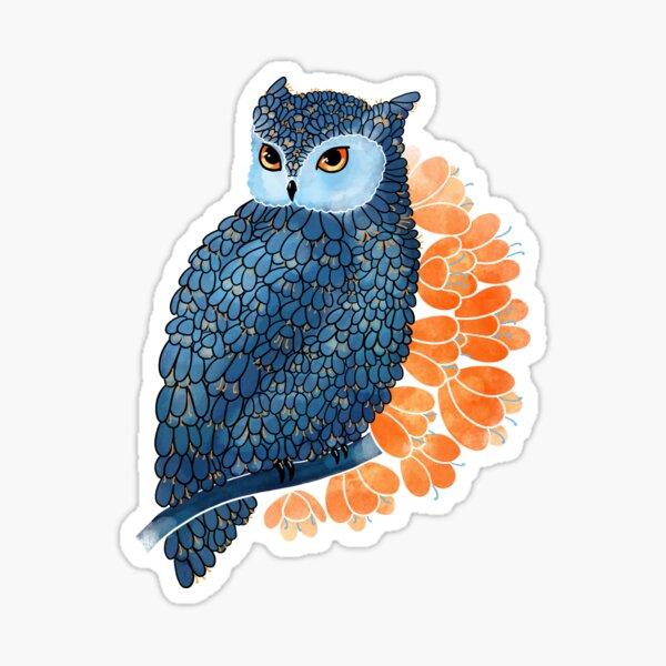 Blossoming owl Sticker