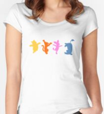 Winnie the Pooh  |  Happy Prints Women's Fitted Scoop T-Shirt