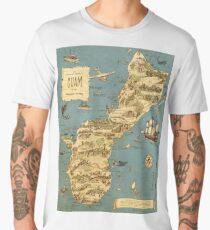 Vintage 1949 guam map - christmas gift for her Men's Premium T-Shirt