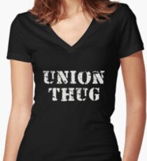 Union Thug Women's Fitted V-Neck T-Shirt