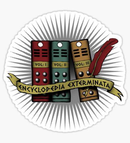 Encylcopedia Exterminata Sticker