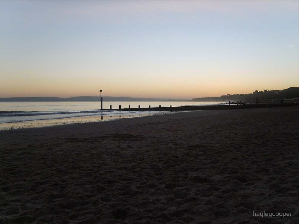 Bournemouth Beach as the Sun Sets by hayleycooper