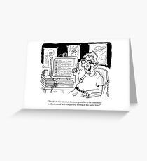 Conspiracy Theory Greeting Card
