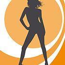 retrogirl orange by Micheline Kanzy