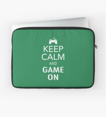Keep Calm And Game On Laptop Sleeve