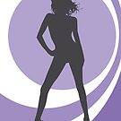 retrogirl purple by Micheline Kanzy