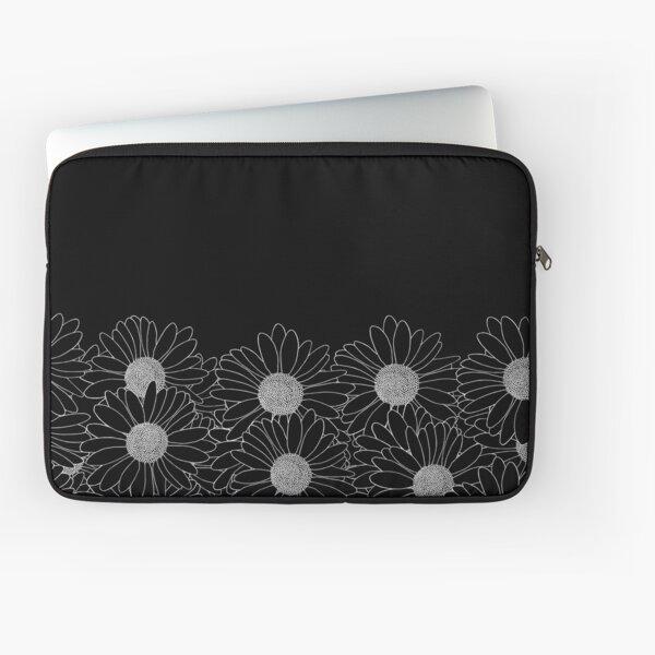 Daisy Boarder Black Laptop Sleeve
