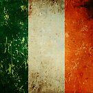 Grunge Scratched Metal Irish Flag by itsjensworld