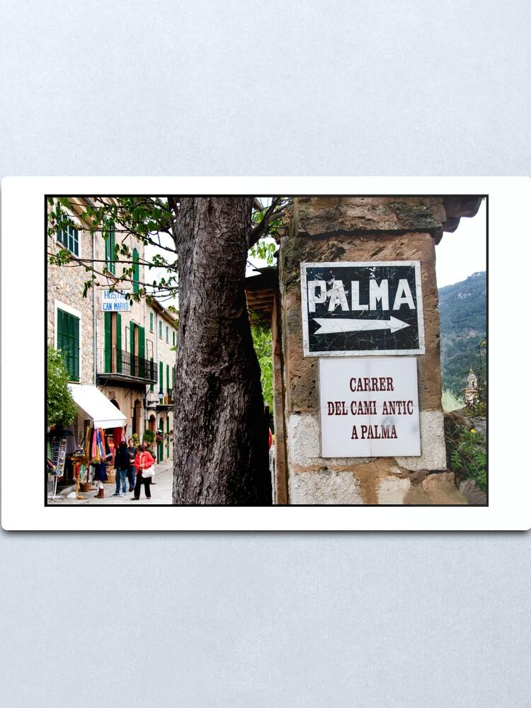 Alternate view of This way to Palma Metal Print