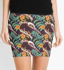 Great Blue Heron Skull Mini Skirt