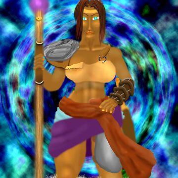 Female sorcerer in portal by congruent2006
