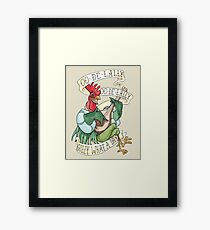 Alan-A-Dale Rooster : OO-De-Lally Golly What A Day Tattoo Watercolor Painting Robin Hood Framed Print