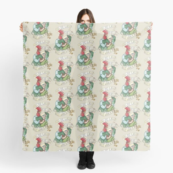 Alan-A-Dale Rooster : OO-De-Lally Golly What A Day Tattoo Watercolor Painting Robin Hood Scarf