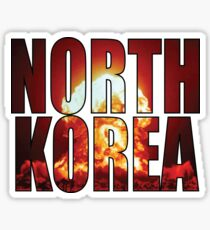 North Korea explosion Sticker