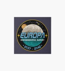 Europa Oceanographic Survey Art Board