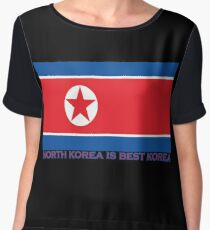 North Korea is Best Korea Women's Chiffon Top