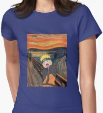 Naruto Scream Womens Fitted T-Shirt