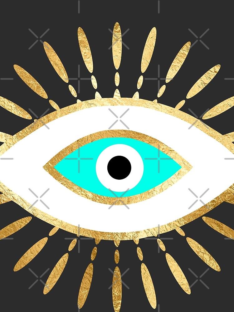 hamsa böser Blick Goldfolie drucken von sofiahawk