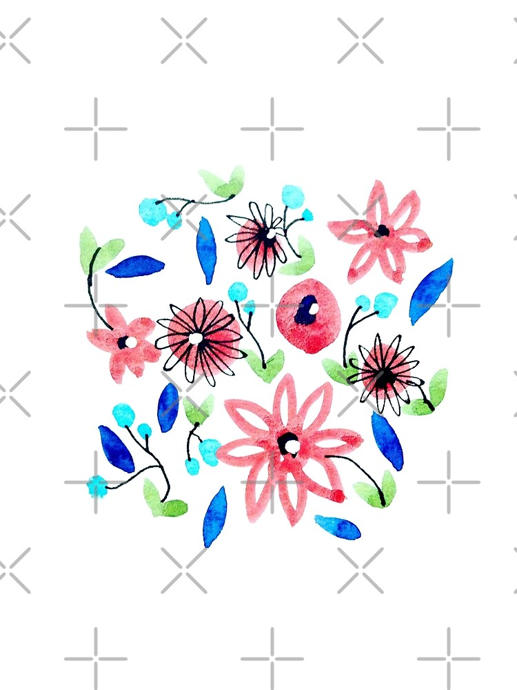 Watercolor Flowers Pattern by whya