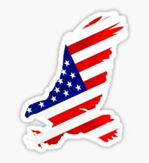 Eagle Stars and Stripes Flag 4th July Sticker
