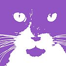 Cat Print/My Patch Feline Face Design by Jenny Meehan  by Jenny Meehan