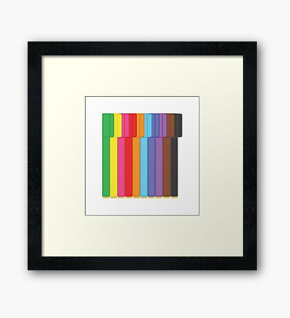 Connector Pens Framed Print